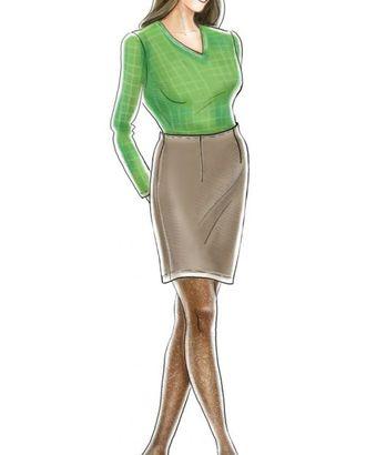 Выкройка: юбка с цельновыкроенным поясом арт. ВКК-1872-1-ЛК0005272