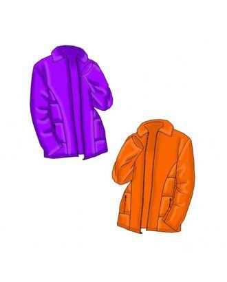 """Выкройка: женская утепленная куртка на """"молнии"""" арт. ВКК-518-1-ЛК0005276"""