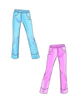 Выкройка: женские спортивные брюки с разрезом арт. ВКК-1442-1-ЛК0005277