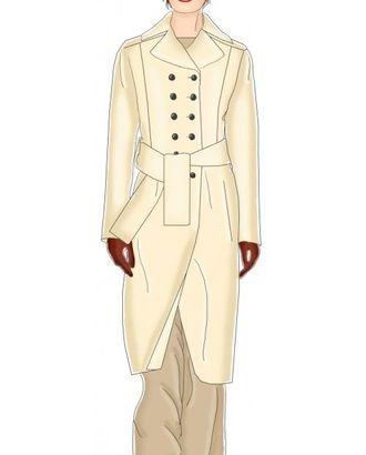 Выкройка: двубортное пальто арт. ВКК-860-1-ЛК0005317