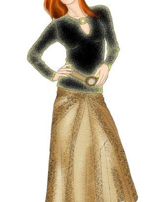 Выкройка: юбка с лучевыми вставками арт. ВКК-1166-1-ЛК0005323