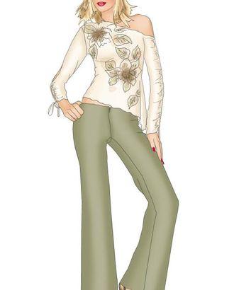 Выкройка: брюки на бедрах без пояса арт. ВКК-722-1-ЛК0005332