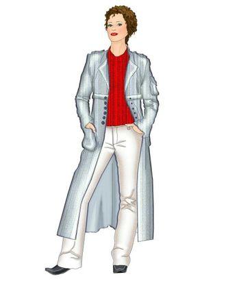 Выкройка: джинсовое пальто арт. ВКК-1774-1-ЛК0005343