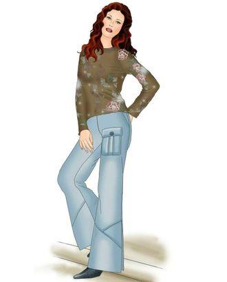 Выкройка: брюки с разрезом арт. ВКК-1064-1-ЛК0005344