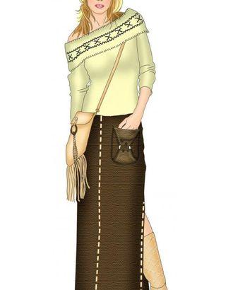 Выкройка: юбка со сложным накладным карманом арт. ВКК-1170-1-ЛК0005345