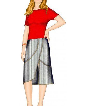 Выкройка: юбка с асимметричной линией низа арт. ВКК-1330-1-ЛК0005352