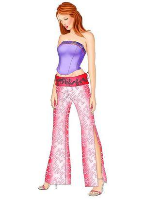 Выкройка: брюки с декоративным поясом арт. ВКК-485-1-ЛК0005428