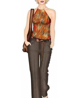 Выкройка: брюки с широкими шлевками арт. ВКК-1157-1-ЛК0005445
