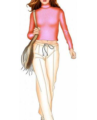 Выкройка: брюки с завязкой арт. ВКК-337-1-ЛК0005451