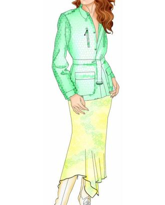 Выкройка: куртка с погонами арт. ВКК-1825-1-ЛК0005476