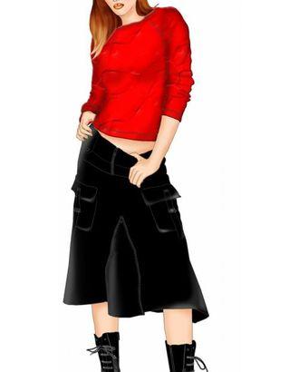 Выкройка: юбка с клином на молнии арт. ВКК-319-1-ЛК0005486