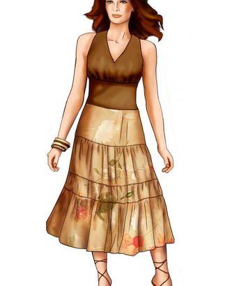 Выкройка: юбка арт. ВКК-1085-1-ЛК0005683
