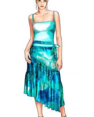 Выкройка: юбка арт. ВКК-1164-1-ЛК0005685
