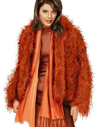 Выкройка: куртка из длинноворсого меха арт. ВКК-1422-1-ЛК0005712