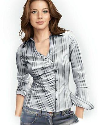 Выкройка: полосатая блузка арт. ВКК-1389-1-ЛК0005759