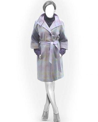 Выкройка: пальто с коротким рукавом арт. ВКК-699-1-ЛК0005834