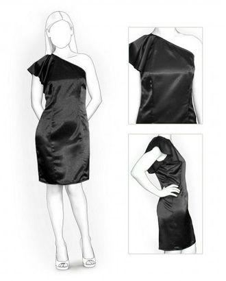 Выкройка: платье с открытым плечом арт. ВКК-1236-1-ЛК0005855