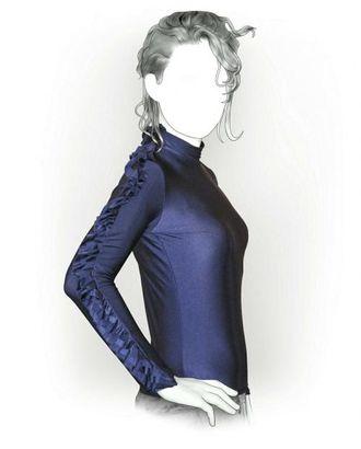 Выкройка: блузон с декоративным рукавом арт. ВКК-1987-1-ЛК0005864