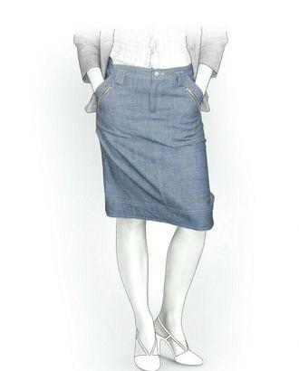 Выкройка: юбка джинсовая арт. ВКК-1004-1-ЛК0005871