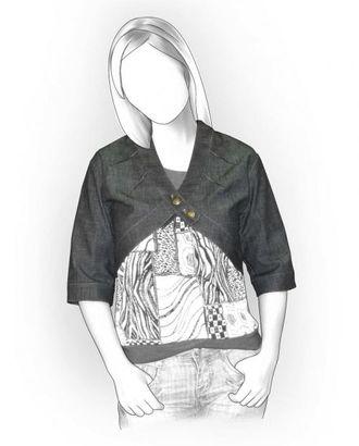 Выкройка: джинсовое болеро арт. ВКК-1319-1-ЛК0005911
