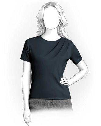 Выкройка: футболка со складками арт. ВКК-1873-1-ЛК0005922