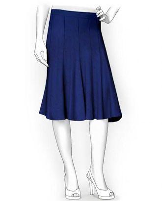 Выкройка: юбка 10-и клинка клеш от бедра арт. ВКК-1162-1-ЛК0005926