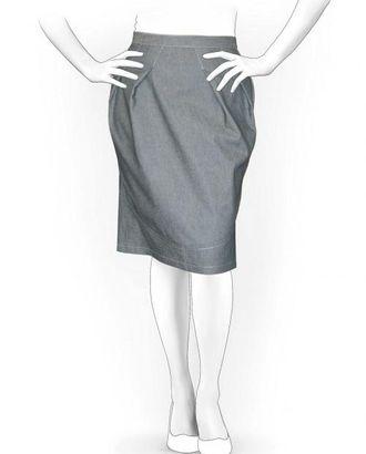 Выкройка: юбка со складками арт. ВКК-270-1-ЛК0005936