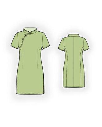 Выкройка: платье в китайском стиле арт. ВКК-1895-1-ЛК0005964