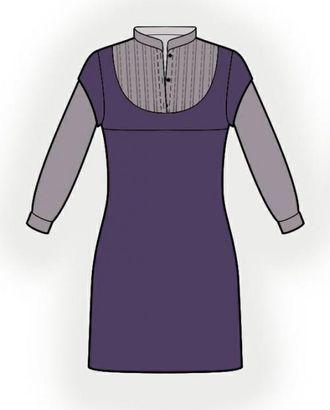 Выкройка: туника с имитацией блузки арт. ВКК-184-1-ЛК0005978