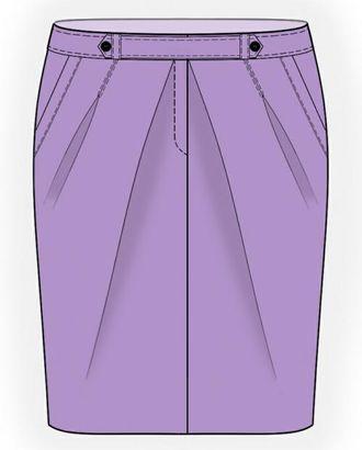 Выкройка: юбка тюльпан арт. ВКК-960-1-ЛК0005983