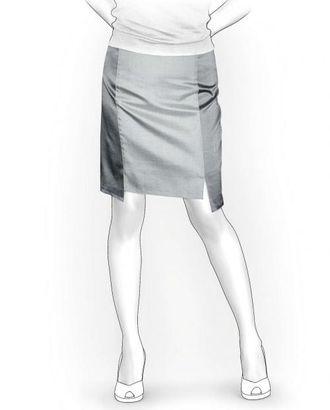 Выкройка: юбка с разрезами арт. ВКК-1536-1-ЛК0005984