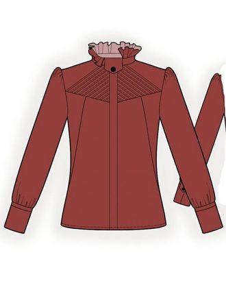 Выкройка: блузка с декоративной кокеткой арт. ВКК-1354-1-ЛК0005986