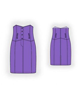 Выкройка: юбка с высоким поясом арт. ВКК-1706-1-ЛК0005987