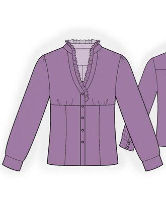 Выкройка: блузка с рюшами арт. ВКК-619-1-ЛК0005999