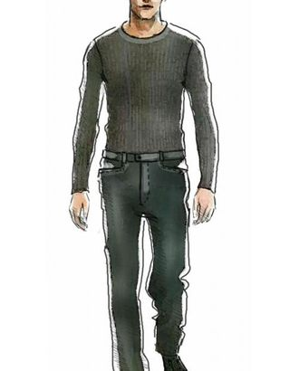 Выкройка: брюки арт. ВКК-1055-1-ЛК0006003