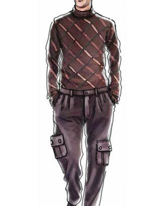 Выкройка: брюки с большими накладными карманами арт. ВКК-498-1-ЛК0006004