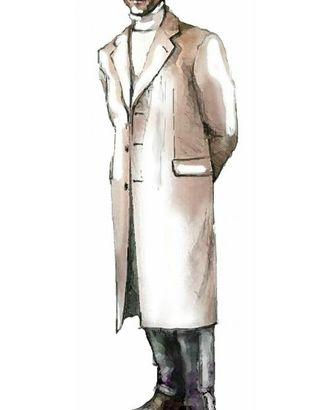 Выкройка: классическое однобортное пальто арт. ВКК-572-1-ЛК0006009