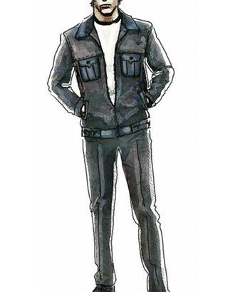 Выкройка: куртка спортивного стиля на молнии арт. ВКК-1659-1-ЛК0006011