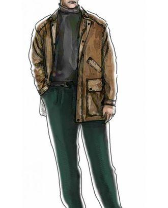 Выкройка: куртка арт. ВКК-1047-1-ЛК0006012
