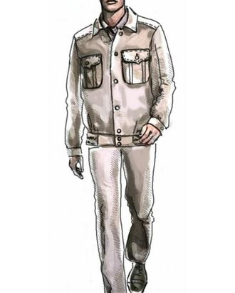 Выкройка: куртка спортивного стиля арт. ВКК-2005-1-ЛК0006013
