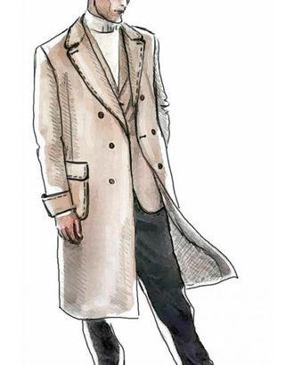 Выкройка: пальто арт. ВКК-1882-1-ЛК0006016