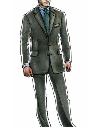 Выкройка: пиджак однобортный с застежкой на три пуговицы арт. ВКК-1088-1-ЛК0006017