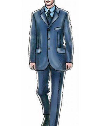 Выкройка: пиджак однобортный с застежкой на три пуговицы арт. ВКК-542-1-ЛК0006019