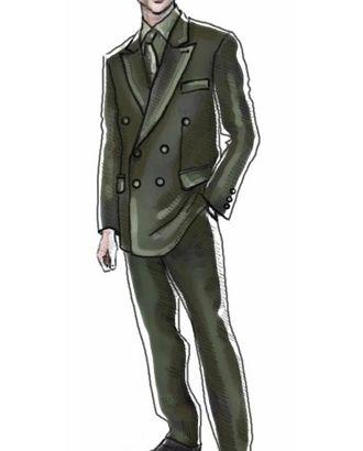 Выкройка: пиджак двубортный арт. ВКК-350-1-ЛК0006020