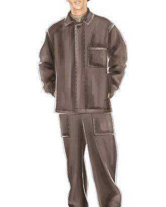 Выкройка: костюм кислотнозащитный мужской (куртка) арт. ВКК-1696-1-ЛК0006036