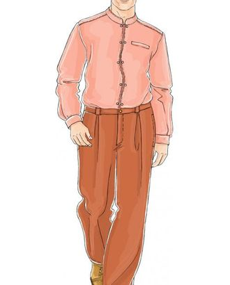 Выкройка: брюки с защипами арт. ВКК-1248-1-ЛК0006039