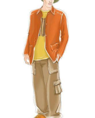 Выкройка: брюки с накладными карманами арт. ВКК-433-1-ЛК0006040