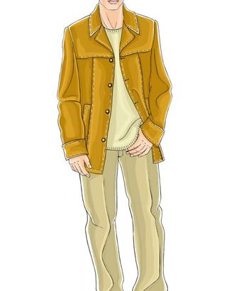 Выкройка: брюки с отворотами арт. ВКК-593-1-ЛК0006041