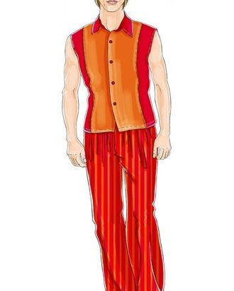 Выкройка: красный костюм (брюки) арт. ВКК-1054-1-ЛК0006048