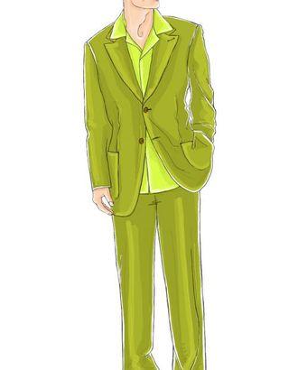 Выкройка: оливковый костюм (брюки) арт. ВКК-1891-1-ЛК0006051